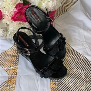 Authentic Prada wedges size 6.